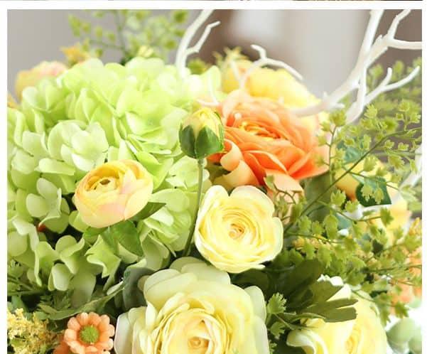 Bình Hoa Lụa Để Bàn Trang Trí - HL6001 đẹp và sang trọng
