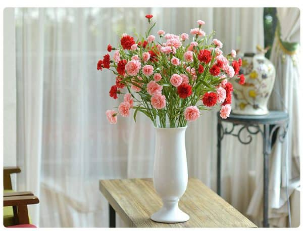 Hoa Lụa Trang Trí Phòng Khách Giá Rẻ Nhiều Màu Sắc |Nội Thất Đương Đại
