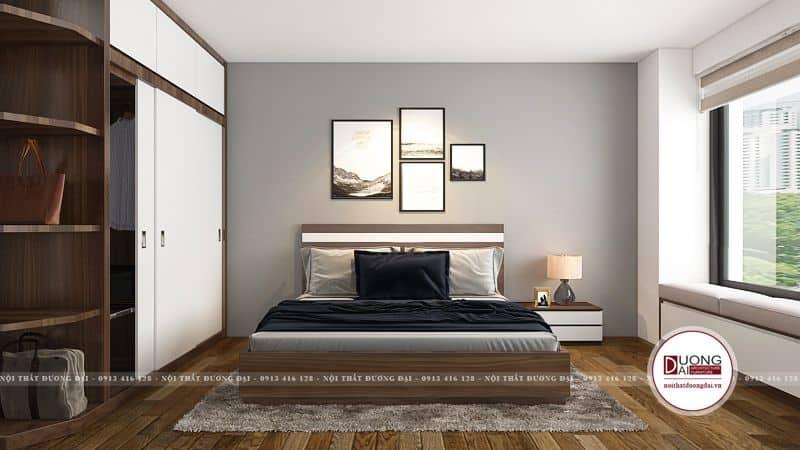 Phòng ngủ Master rộng và hiện đại với tủ quần áo lớn