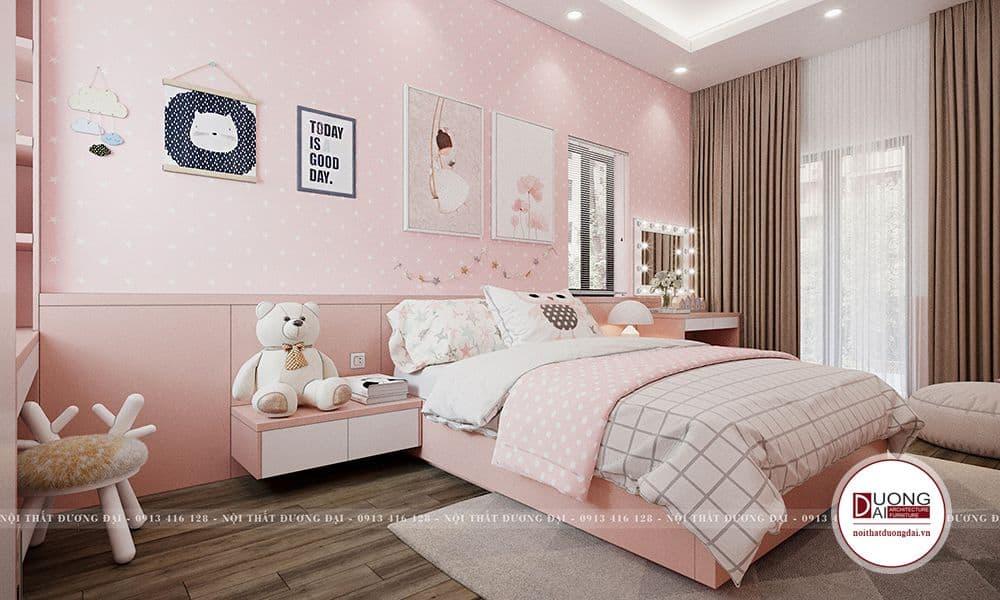 Màu sắc yêu thích của cô công chúa là màu hồng cũng như bao cô nàng khác.