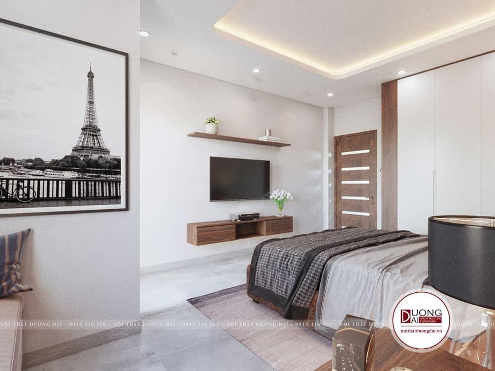 Phòng ngủ Master đơn giản nhưng lại rất ấm áp và nghệ thuật