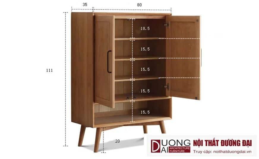 Tủ Giày Dép Gỗ Sồi Tự Nhiên Đẹp Hiện Đại GHS-5776 Sang Trọng