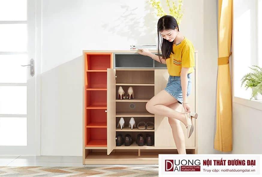 Tủ Giày Dép Hiện Đại Kiểu Dáng Nhỏ Gọn GHS-5822 Đẹp và Sang Trọng