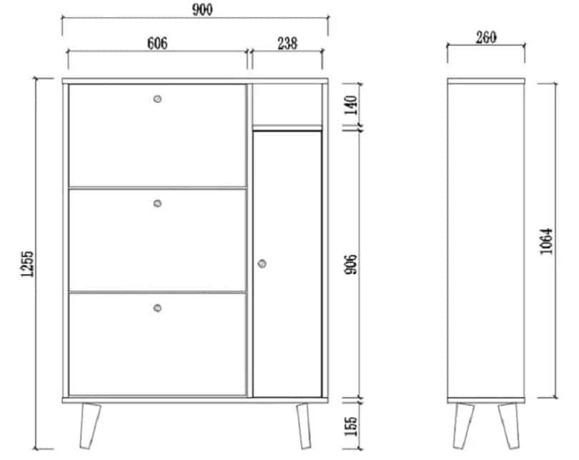 Tủ Giày Gỗ Công Nghiệp Hiện Đại Đa Năng Tiện Dụng GHS-5720 Đẹp