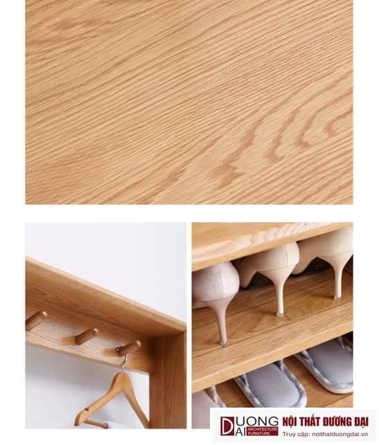 Tủ Giày Gỗ Sồi Tự Nhiên Thiết Kế Đẹp Hiện Đại GHS-5715