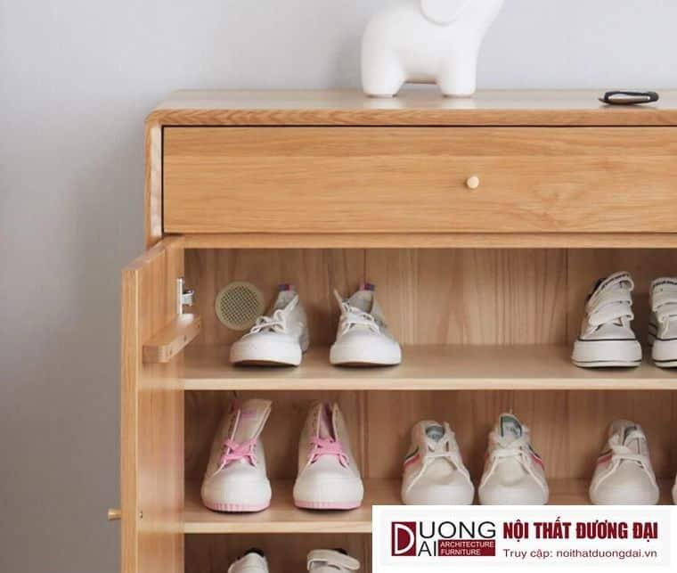 Tủ Giày Gỗ Sồi Tự Nhiên Thiết Kế Hiện Đại GHS-5778 Sang Trọng
