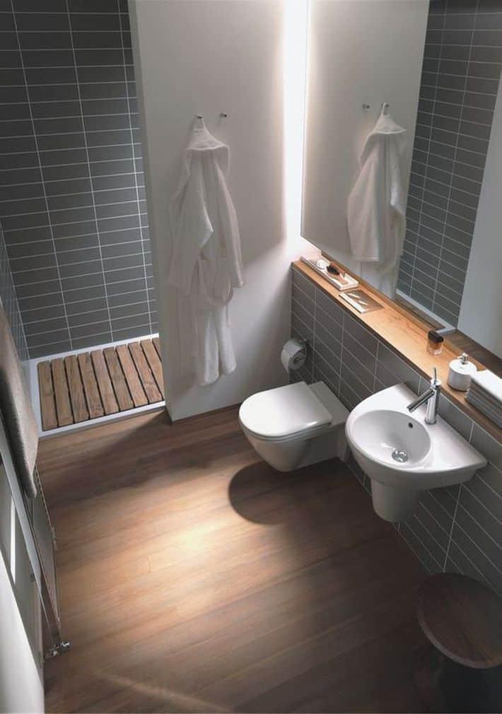 Phòng vệ sinh đơn giản nhưng rất hiện đại và trang nhã
