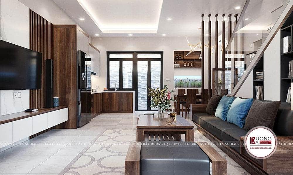Ngôi nhà có diện tích khá nhỏ nên tất cả các sản phẩm đều được tối giản và thiết kế đa năng.