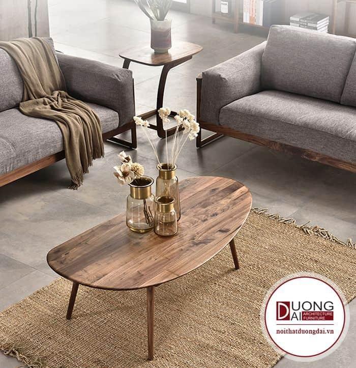 Mặt bàn trà luôn được đảm bảo với vân gỗ đẹp.