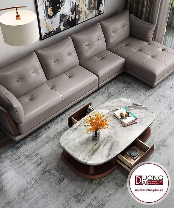 Bàn trà mặt đá được sử dụng trong rất nhiều thiết kế nội thất.
