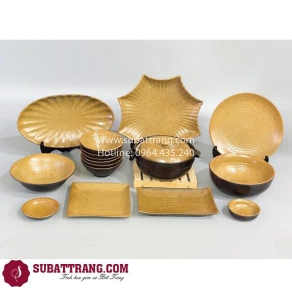 Bộ Đồ Ăn Men Gốm Nâu - SBT60068