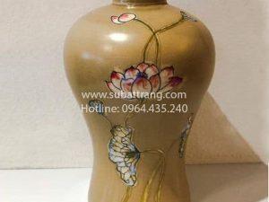 Lọ Hoa Dáng Cao Vẽ Sen - SBT30111