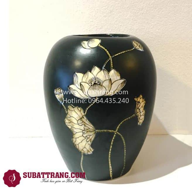 Lọ Hoa Khắc Sen - SBT30110