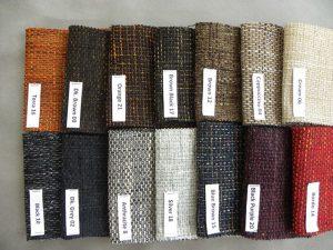 Chất liệu vải nỉ đa dạng về màu sắc, hoa văn, đường nét.