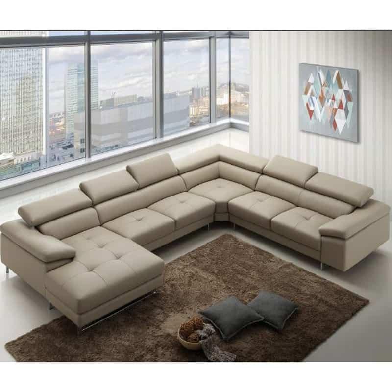 Sofa góc hiện đại - Tiết kiệm diện tích căn phòng tối đa cùng nét hiện đại hiện lên dưới từng đường nét.