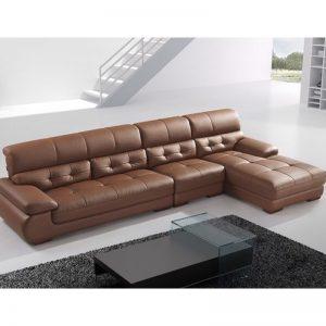 Sofa góc màu nâu - Nét tinh tế hiện đại điểm tô cho toàn bộ căn phòng.