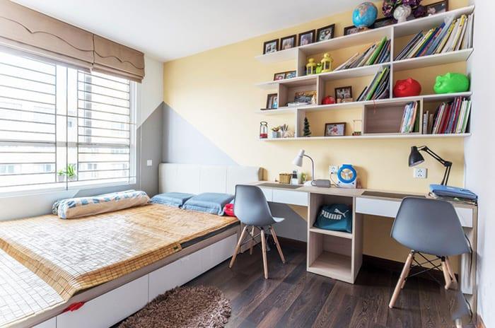Không gian phòng ngủ của bé làm từ gỗ công nghiệp
