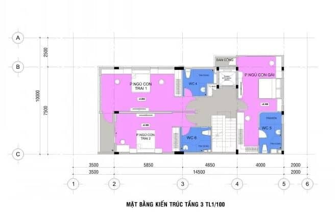 Thiết Kế Kiến Trúc Nhà 4 Tầng 145m2 Kết Hợp Kinh Doanh & Văn Phòng |Nội Thất Đương Đại