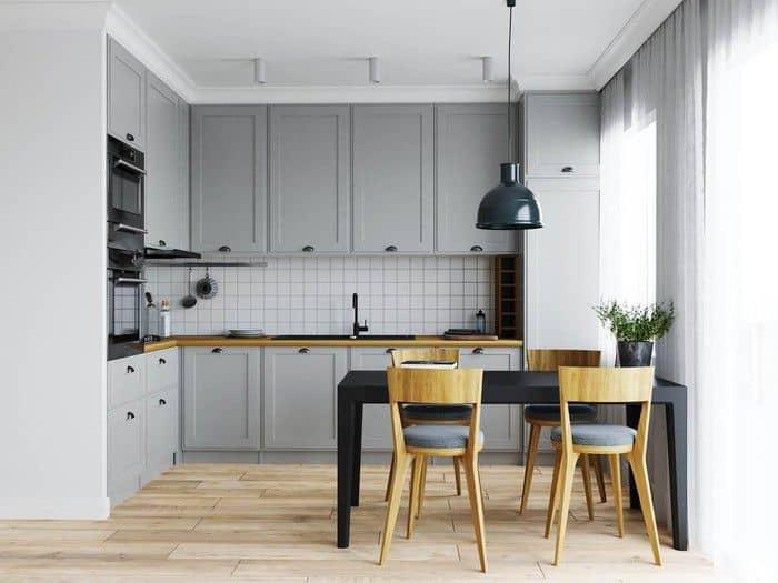 Phòng bếp nhỏ gọn đầy đủ tiện nghi.