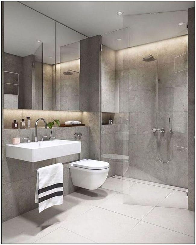 Phòng tắm sang trọng với đầy đủ thiết bị tiện nghi.