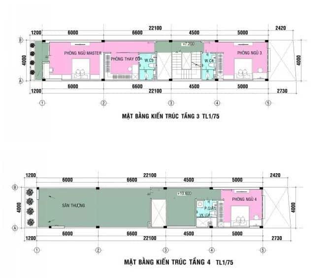 Tư Vấn Thiết Kế Kiến Trúc Nhà Ống 96m2 4 Tầng (4x24m) Cho Gia Đình 3 Thế Hệ  Nội Thất Đương Đại