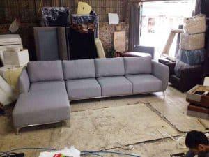 [01/11/2019] Bàn Giao Sofa Góc Nỉ Hàn Quốc Màu Xám |Anh Hùng chung cư Time City
