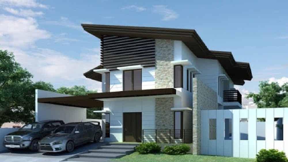 Thiết kế nhà mái lệch độc đáo