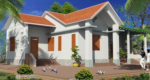 Ngôi nhà 1 tầng thiết kế đơn giản mang tới cảm giác bình yên cho gia chủ