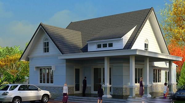 Nhà 1 tầng 2 phòng ngủ 100m2 được thiết kế với sự đơn giản