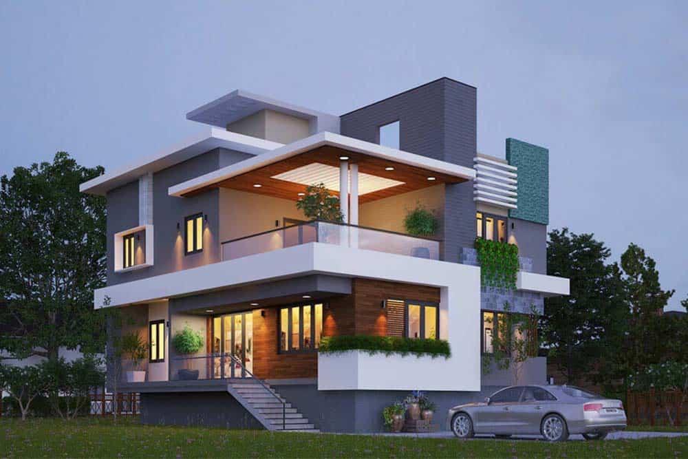 Thiết kế nhà độc đáo có tầm nhìn rộng