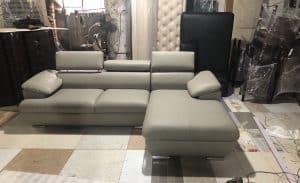 Bàn Giao Sofa Da Góc 2m4  Chị Hằng Chung Cư Eco Green Nguyễn Xiển