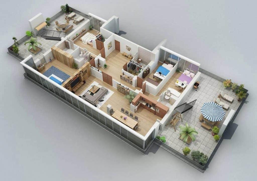 Mẫu nhà mái thái 4 phòng ngủ đẹp vì quá mê!