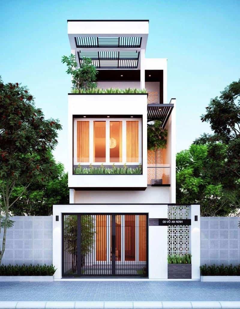 Ngôi nhà 2 tầng đẹp với khối kiến trúc ấn tượng
