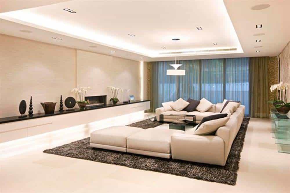 Phòng khách đẹp và sang trọng có tầm nhìn rộng