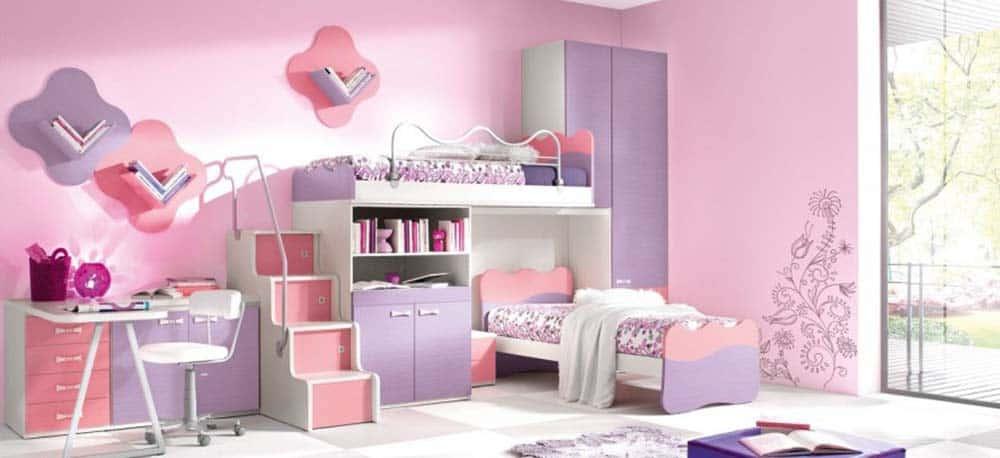 Thiết kế phòng ngủ cho bé gái đáng yêu
