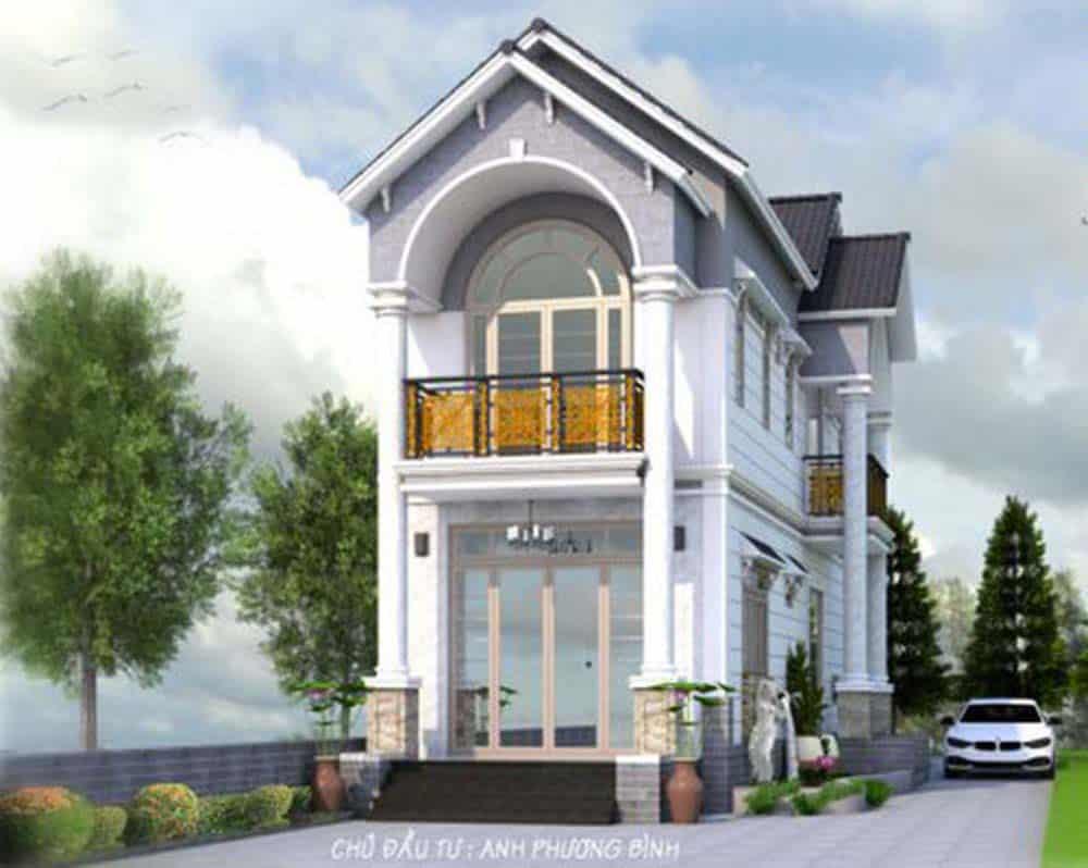 Mẫu thiết kế nhà mái thái phong cách Pháp