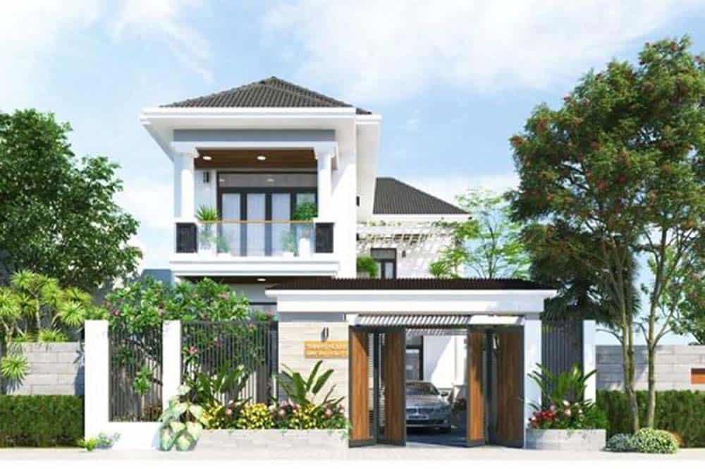 Mẫu thiết kế nhà mái thái đẹp