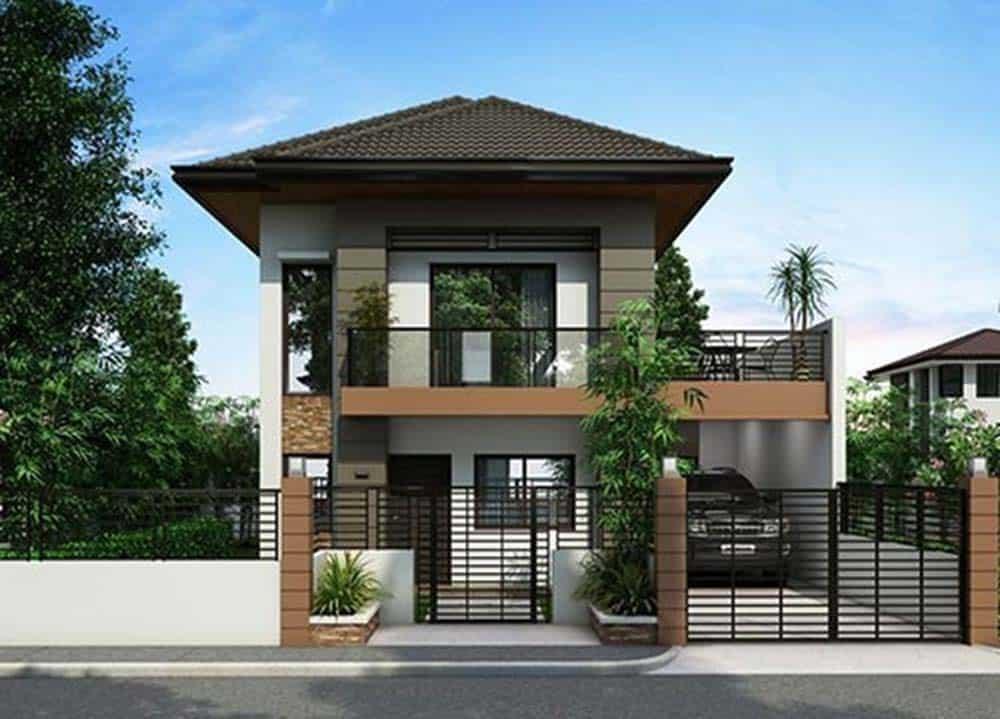 Mẫu thiết kế nhà mái thái 2 tầng đẹp