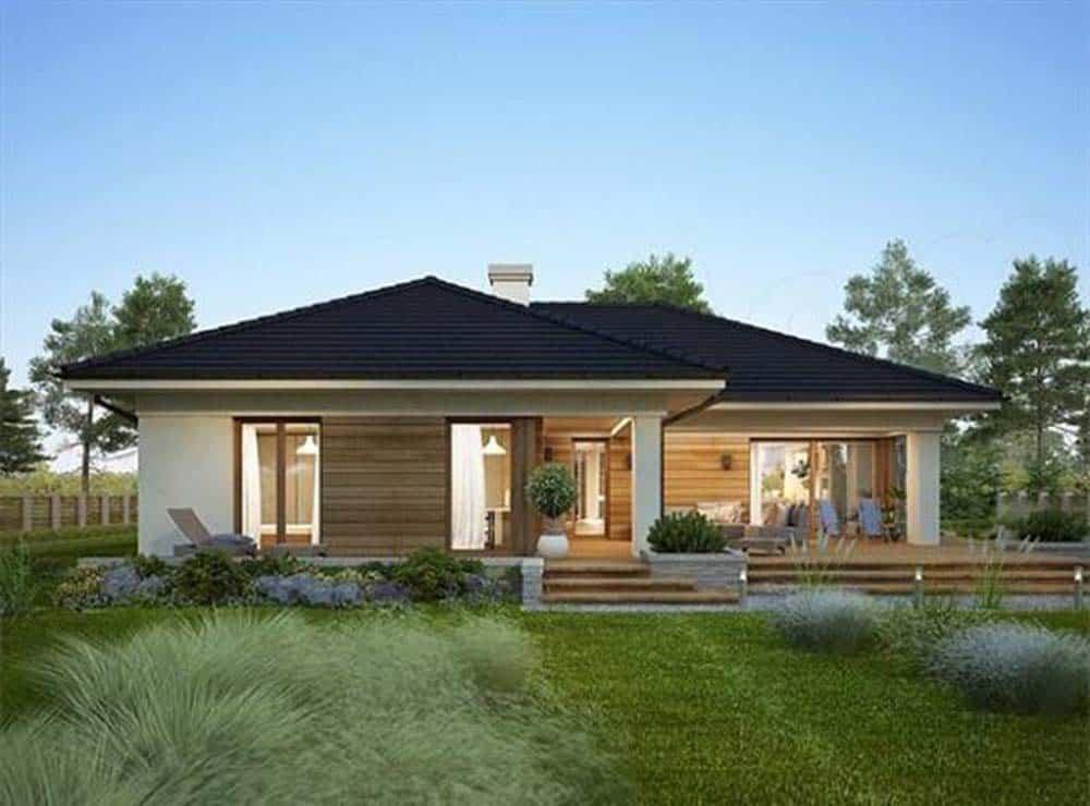 Thiết kế nhà mái thái có sân vườn đẹp
