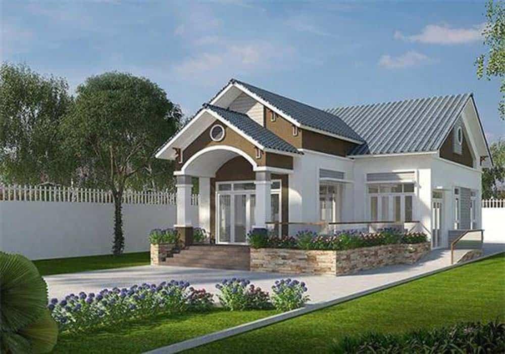 Thiết kế nhà mái thái giật cấp đẹp