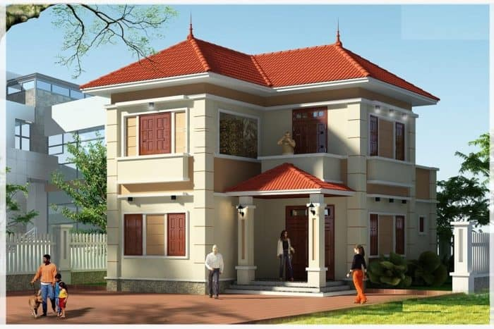 Ngôi nhà 2 tầng được xây rộng rãi với 300 triệu