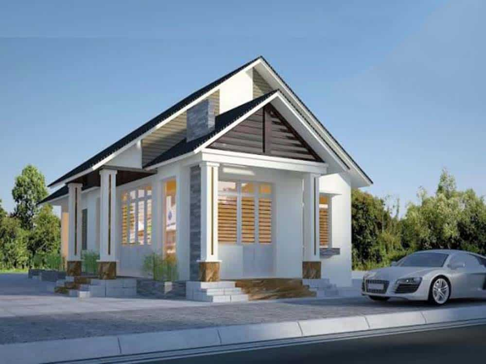 Thiết kế nhà mái thái 1 tầng đẹp