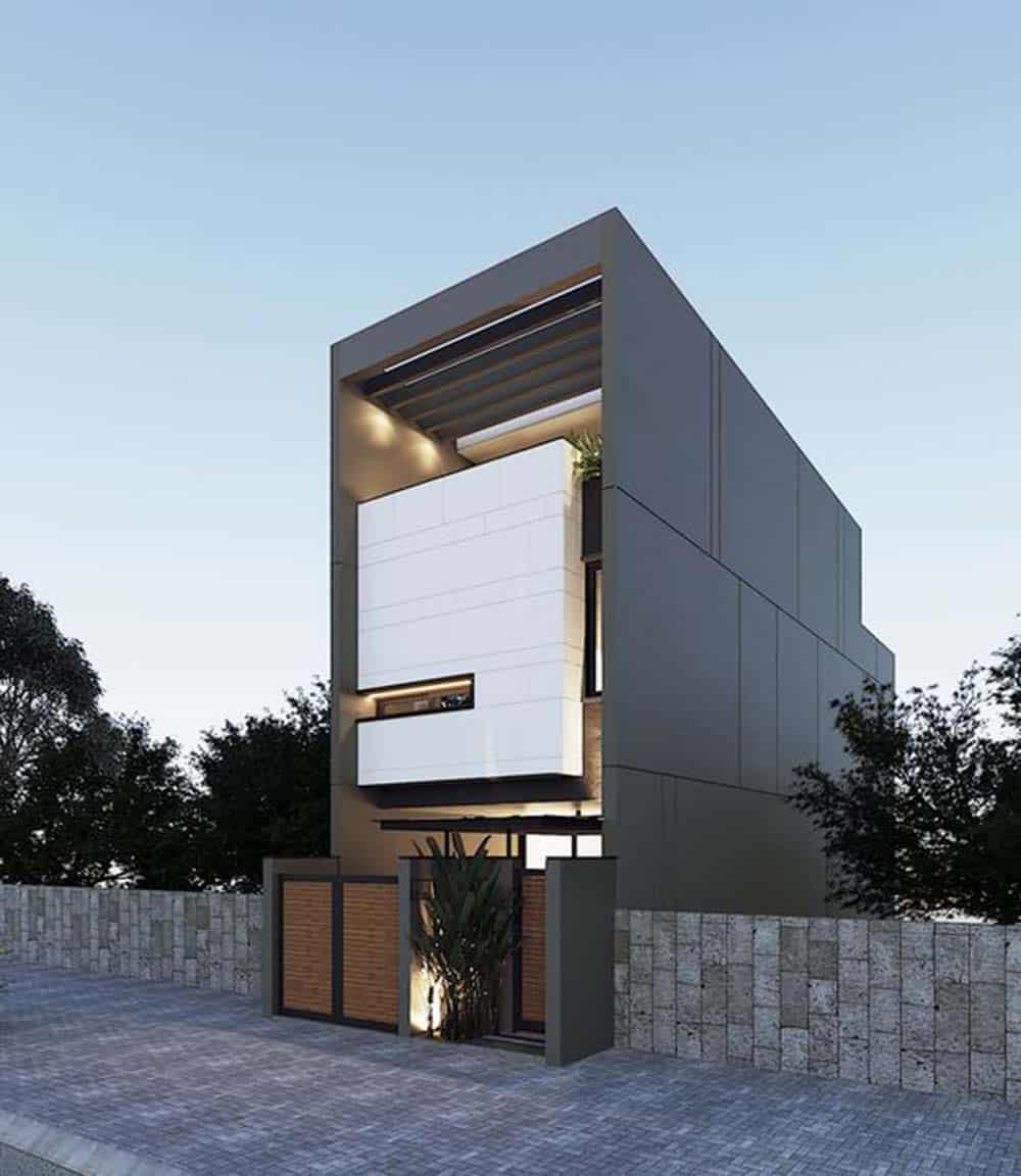 Kiến trúc khối hộp có tính thẩm mỹ cao của nhà ống