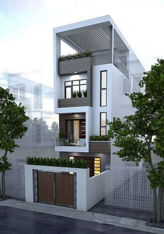Thiết kế nhà 3 tầng 1 tum rộng 5m đẹp