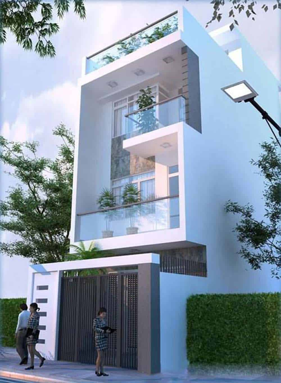 Thiết kế không gian mở của căn hộ mặt tiền 5m
