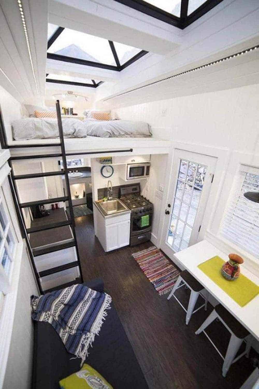 Nhà ống 1 tầng có 2 phòng ngủ nhỏ xinh cho gia đình trẻ