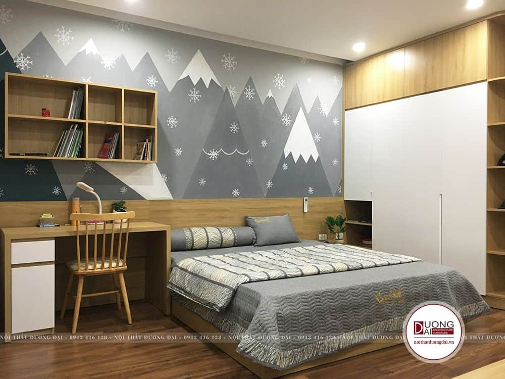Phòng ngủ cho bé trai được thi công bởi Nội Thất Đương Đại