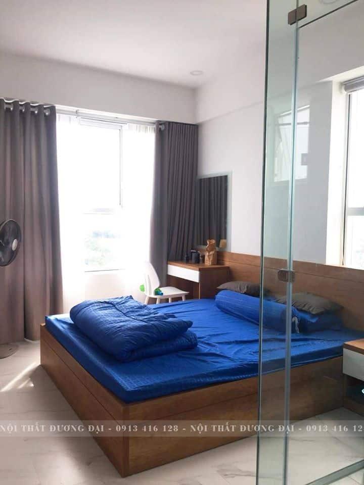 Phòng ngủ với gam màu hiện đại, sinh động.