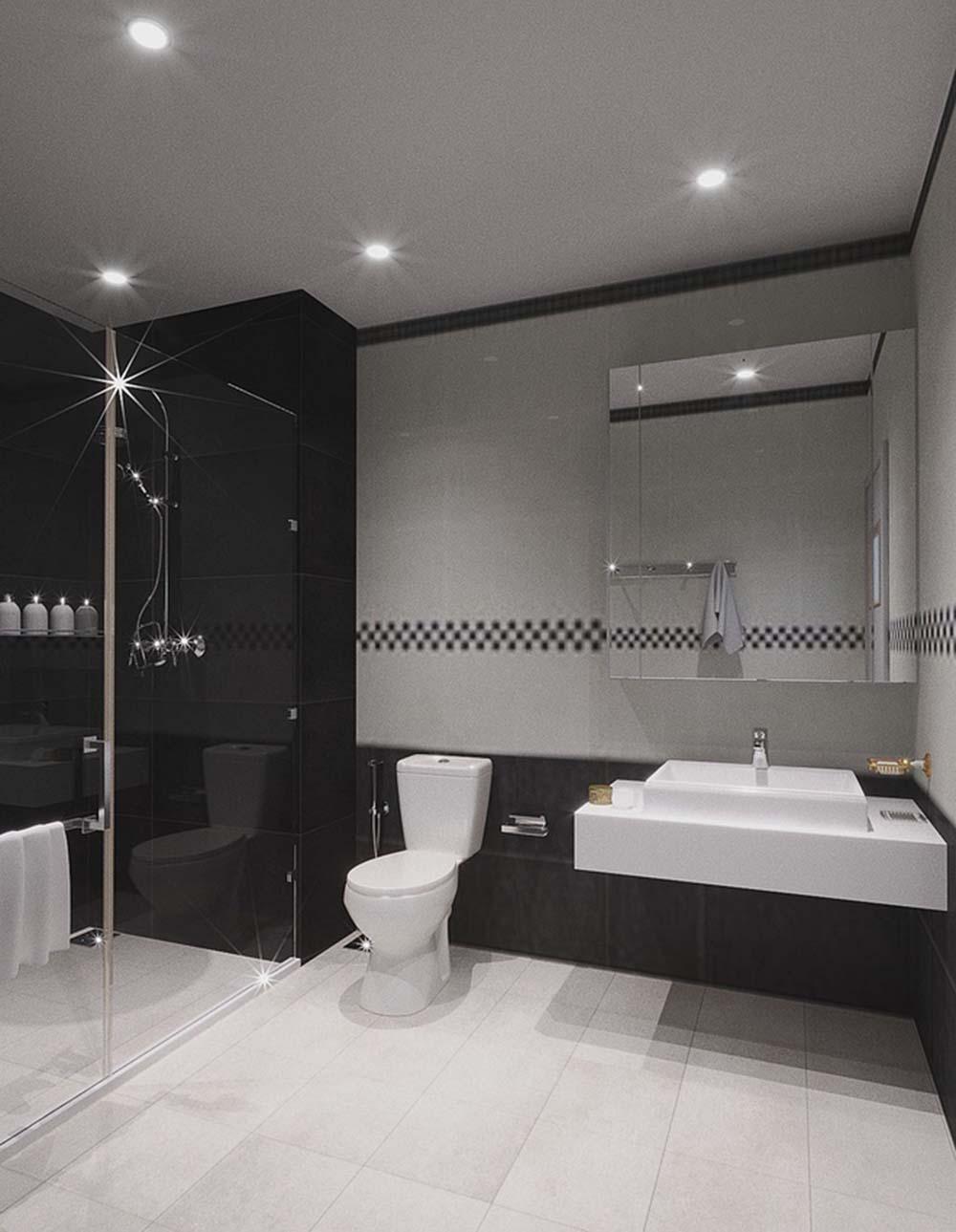 Phòng tắm sang trọng và hiện đại