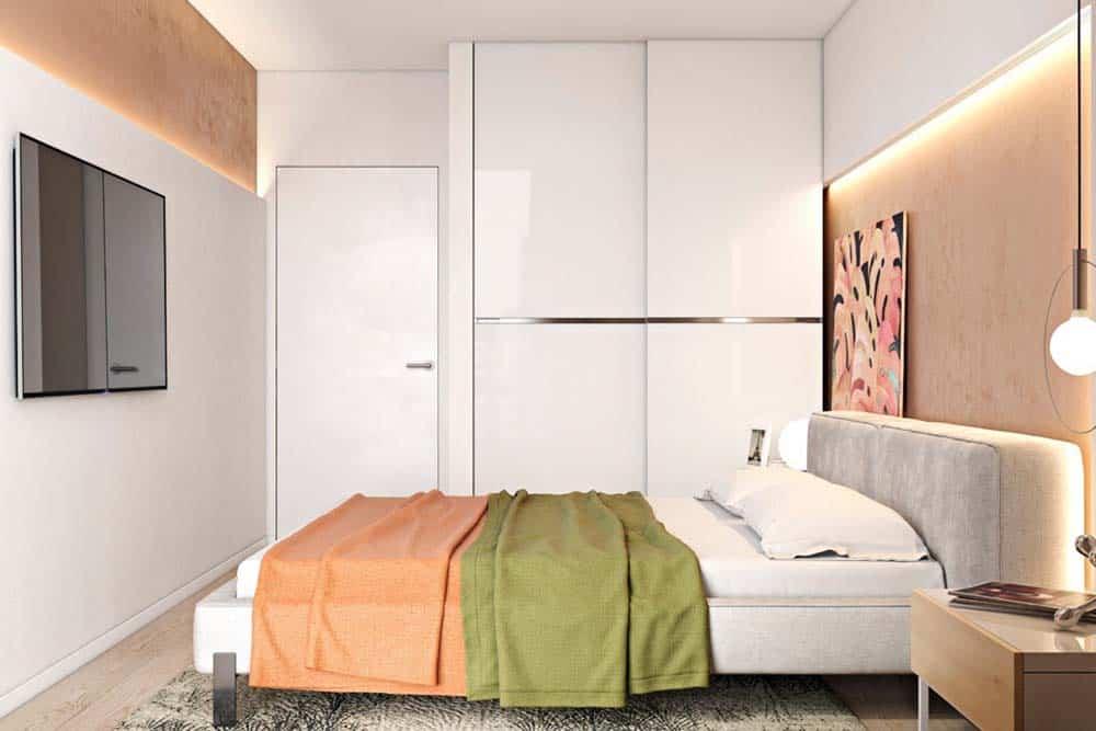 Phòng ngủ Master đơn giản nhưng sang trọng